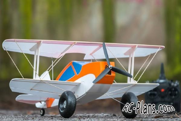 free plans rc biplane Pinkus Doppelbock