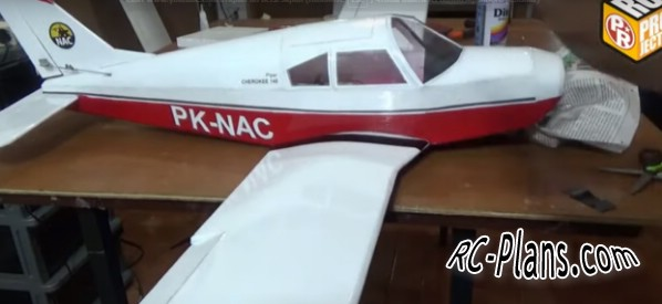 Free plans for rc airplane Piper-Cherokee