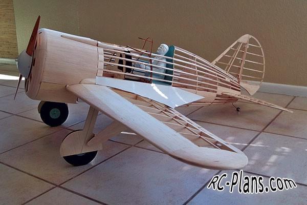 Free plans for balsa rc airplane Polikarpov I-16 Rata