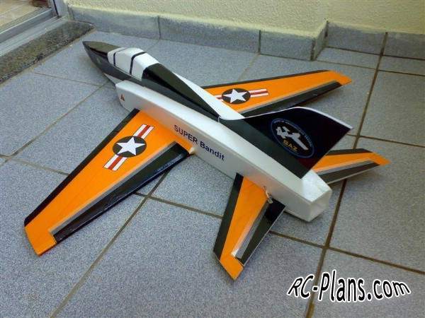 free plans rc airplane Shumate Super Bandit