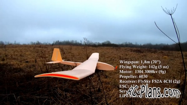 Free plans foam rc airplane Slow flyer glider