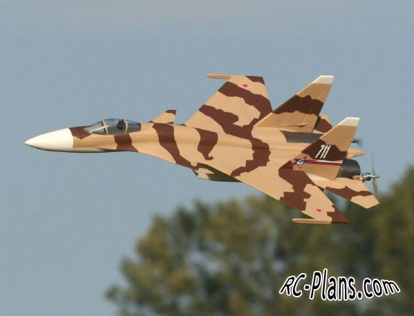 Free plans for rc airplane Su-37 Super Flanker Park Jet
