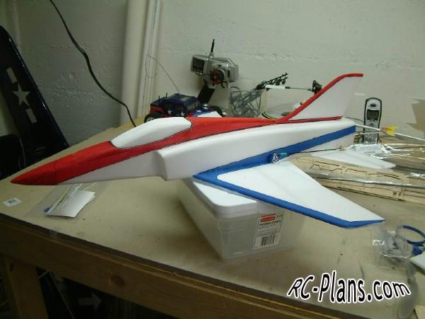 Free plans for foam scale rc airplane Super Bandit EDF