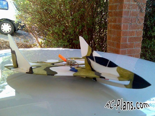 Free plans for foam scale rc airplane Thunderstruck EDF50 J250