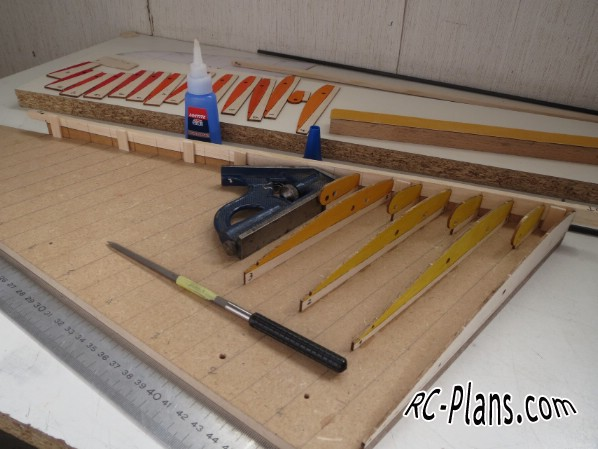 Free plans for balsa rc airplane Flying wing Variante