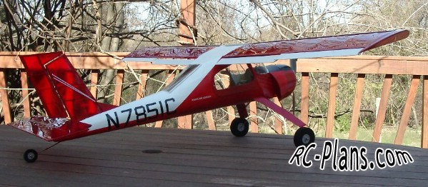 Free plans RC airplane PZL-104 Wilga 80