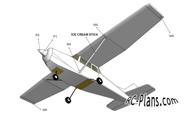 Free plans for rc airplane Cessna 172