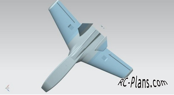Free plans for 3D printed rc airplane Dart-2