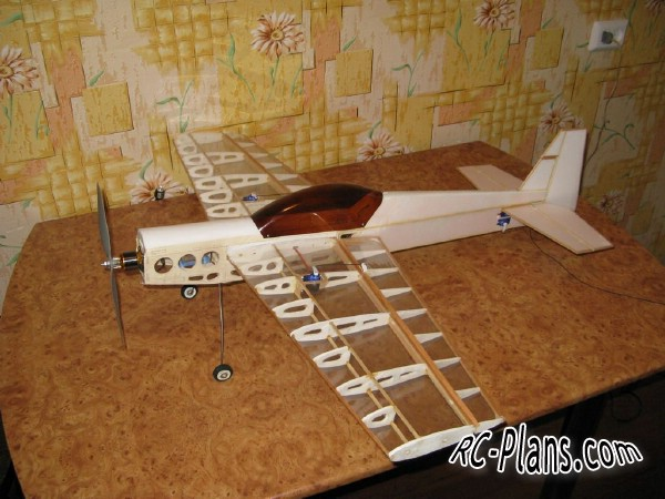 Free plans for rc airplane Easy Traner 3D