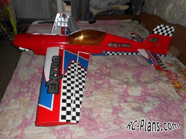 Free plans balsa rc 3D Airplane Extra 300S 45