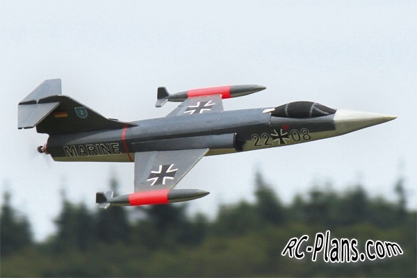 free plans rc airplane F-104 Starfighter