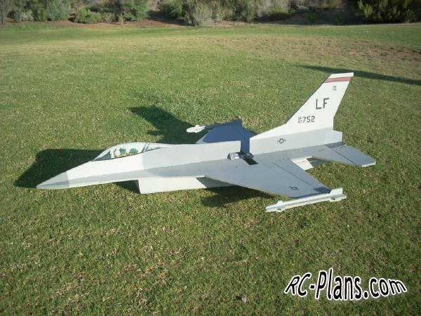 Free plans for rc airplane F16 Falcon EasyBuild