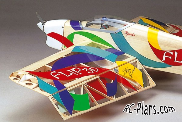 free plans rc airplane flip 3d