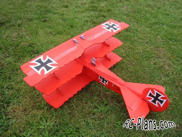 Free plans for rc airplane Foker Dr1