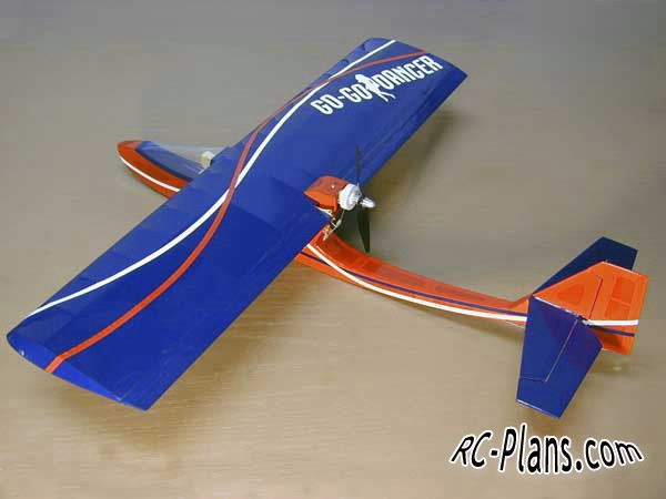 Free plans for rc glider Go-Go Dancer