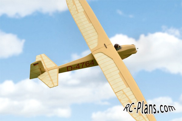 Free plans for balsa rc glider Grunau Baby 2
