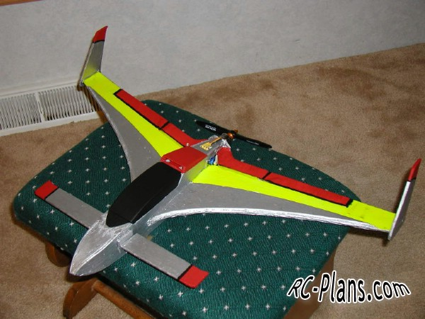 Free plans for rc flying wing Hyper EZ