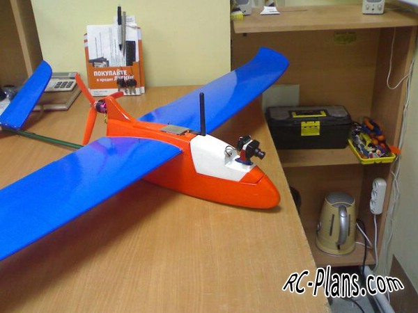 Free plans for fpv airplane Ikar 1600