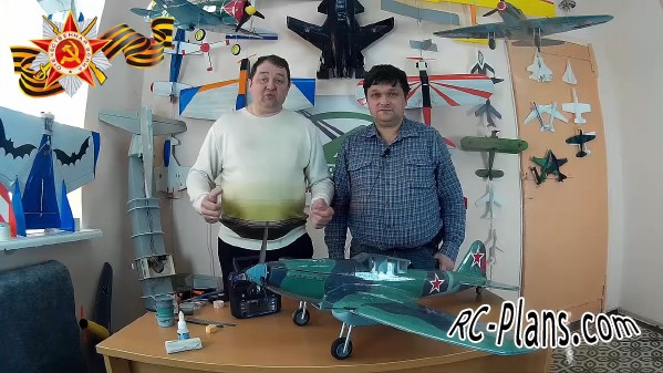 Free plans for rc airplane Il-2 Shturmovik