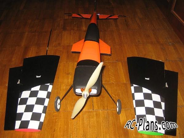 free plans rc airplane Katana