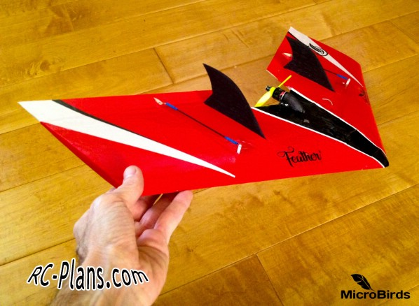 Free plans for foam rc flying wing Micro Sonic
