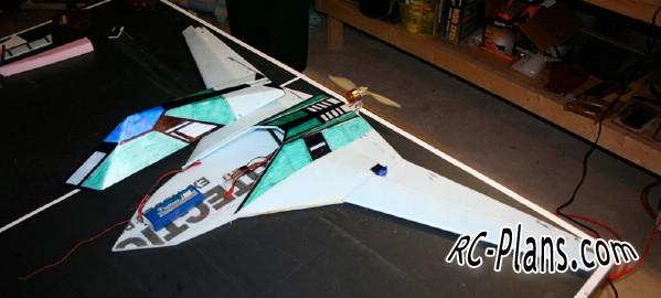 free rc plane plans pdf download - rc airplane Midnight UCAV
