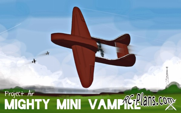 Free plans for easy foam rc airplane Mini Vampire