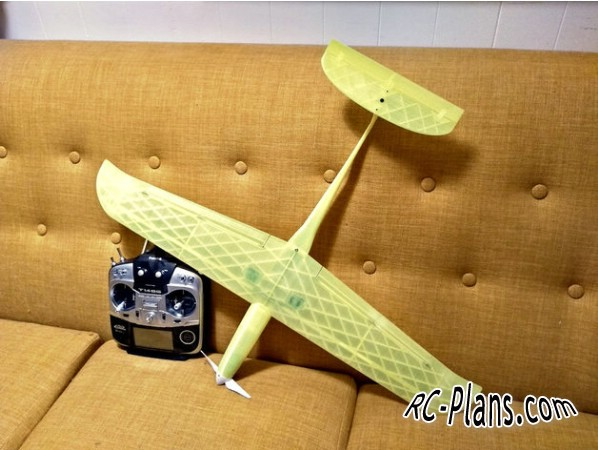 Free plans for 3D printed rc airplane Nucking Futs