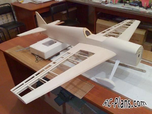 Balsa homemade F3A rc airplane Opus F3A