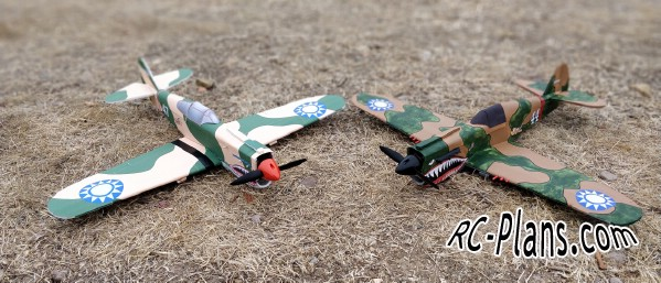 Free plans for rc airplane P40 Warhawk FT-Style Mini