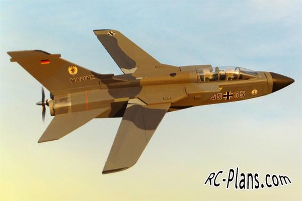 Free plans for foam rc airplane PA-200 Tornado