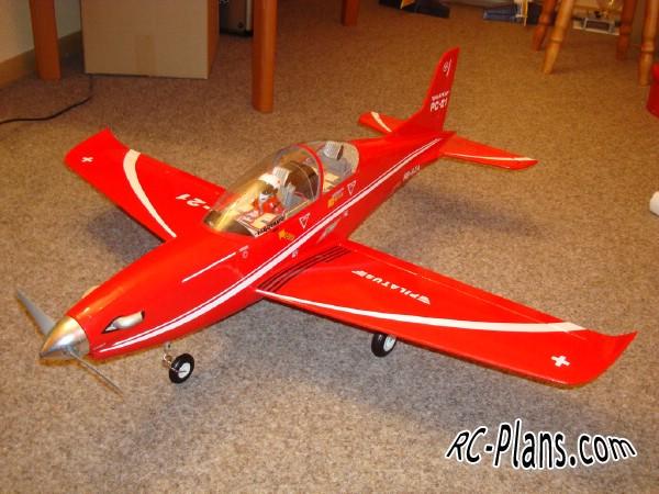 Free plans for easy foam rc airplane Pilatus PC-21