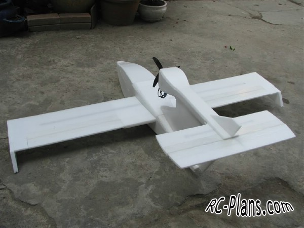 free plans rc airplane Sea Wind