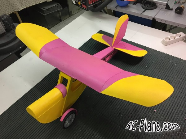 plans for a foam rc plane Slowly