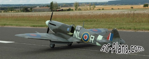Free plans for balsa rc airplane Spitfire MK9