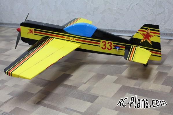 free plans rc su-26