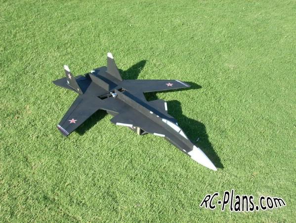plans for a foam rc plane Su 47 Berkut