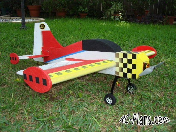 Free plans for foam rc 3D airplane S.W.A.T.