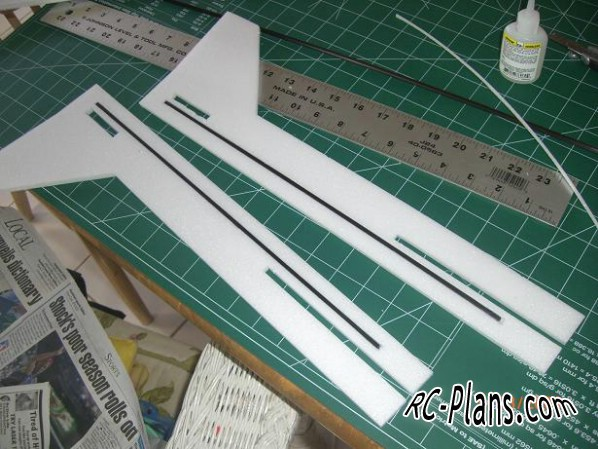Plans foamed rc airplane Twinax