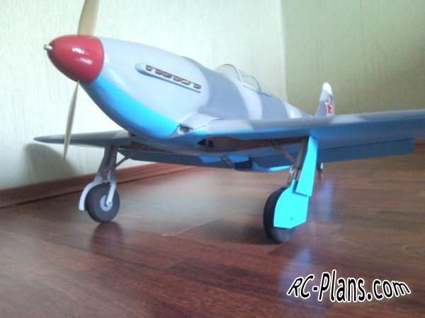 Free plans balsa rc glider Yak-3