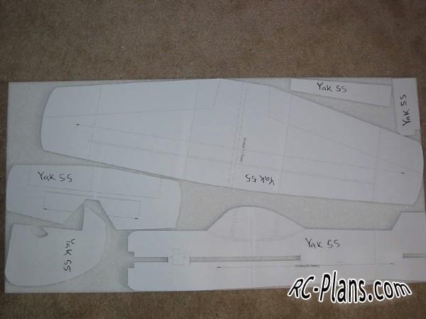 plans for a foam rc plane Yak 55