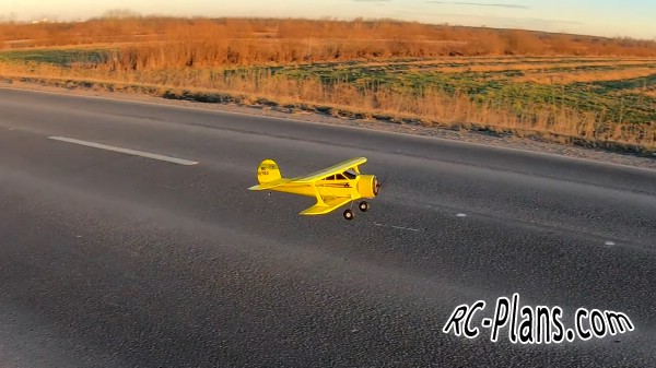 free rc plane plans pdf download - rc airplane Beechcraft 17R Staggerwing