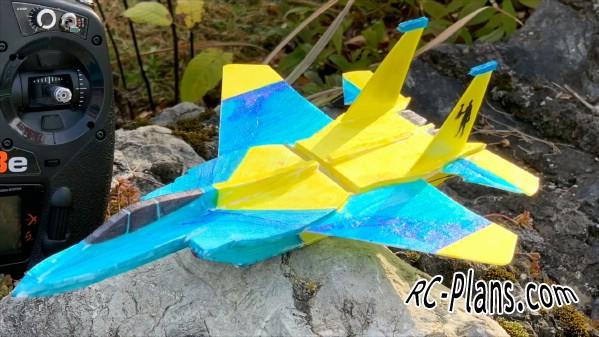 free rc plane plans pdf download - foam rc airplane F-15 Micro