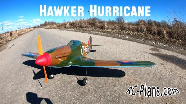 free rc plane plans pdf download - rc airplane Hawker Hurricane