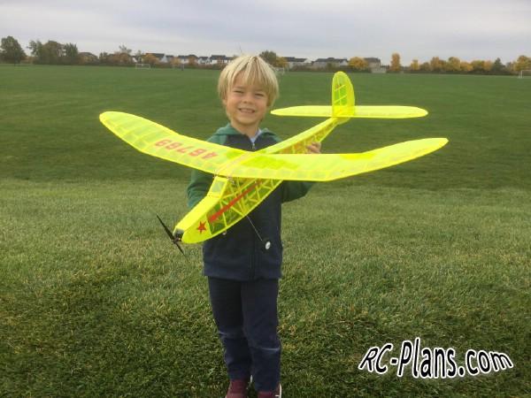 free rc plane plans pdf download - balsa rc airplane Jabberwock 125 EP
