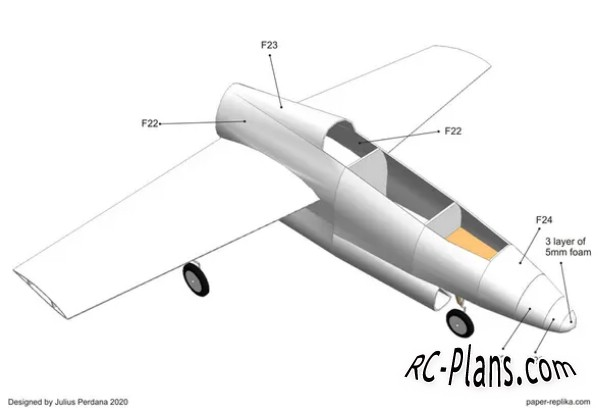 free rc plane plans pdf download - foam rc airplane T2 Buckeye