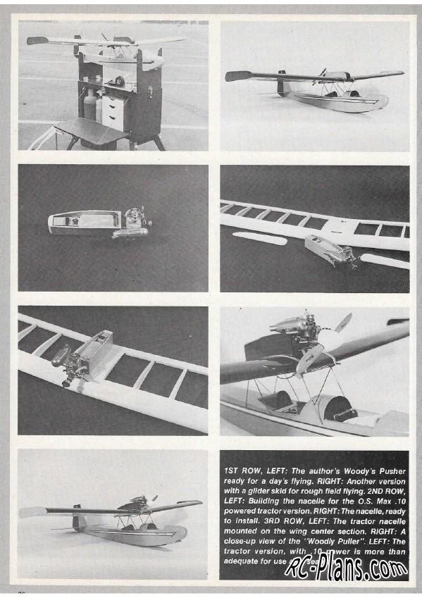 free rc plane plans pdf download - balsa rc airplane Woody's Pusher