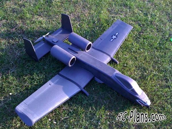 free rc plane plans download PDF - homemade rc airplane A-10 Thunderbolt II