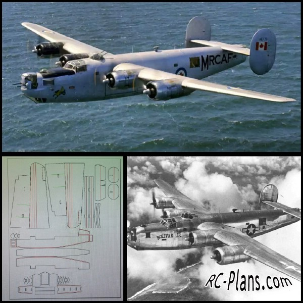 free rc plane plans pdf download - rc airplane B-24 Liberator