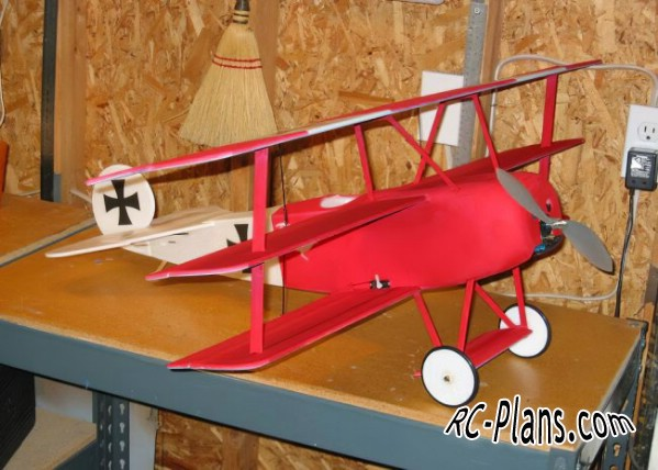 free rc plane plans pdf download - rc airplane Fokker Dr.I
